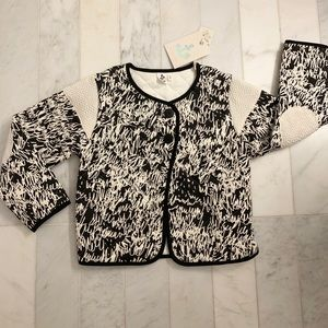NWT Noe and Zoe Berlin Jacket — Black and White